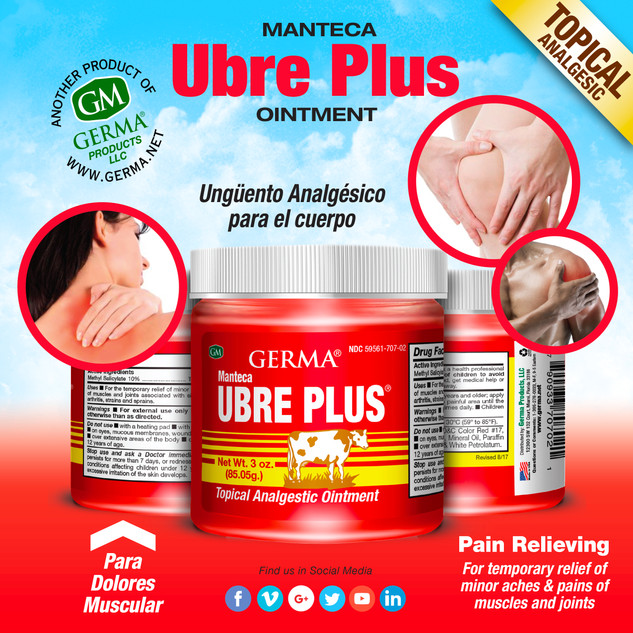 Germa® Manteca Ubre Plus (Red) - 3oz