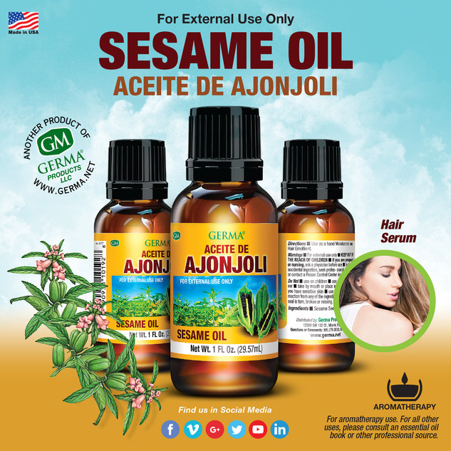 Germa® Sesame Oil (Ajonjoli) - 1oz