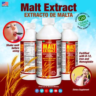 Germa® Malt Extract (Extracto de Malta) - 16oz