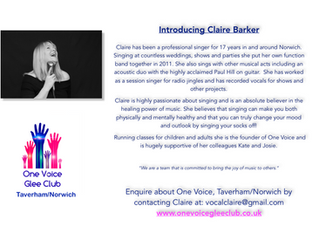 March sees the start of 3 new One Voice Groups!