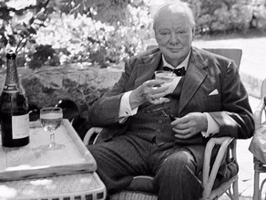 Winston Churchill on Champagne