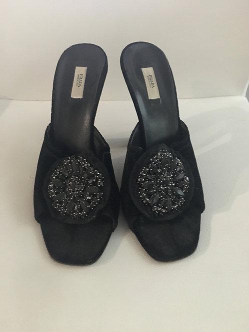 Prada Velvet Sandals Size 38