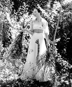 Wallis Simpson in Schiaparelli, circa 1937 at the Chateau de Cande. Photo by Cecil Beaton