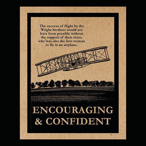 """Encouraging & Confident"" Flyer"