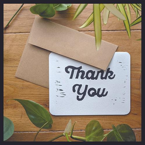 Gratitude Card -Thick Script