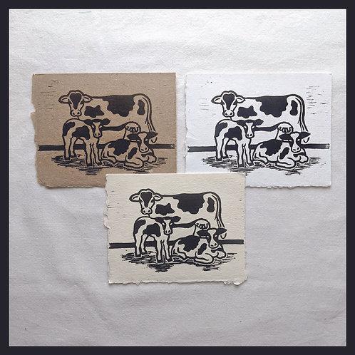 Handmade Paper - Farm Series - Cows
