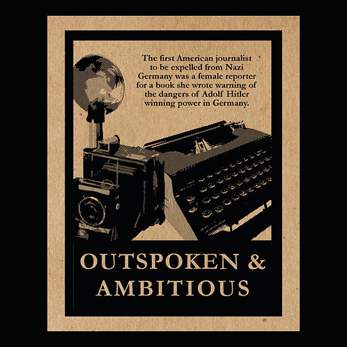 """Outspoken & Ambitious"" Flyer"