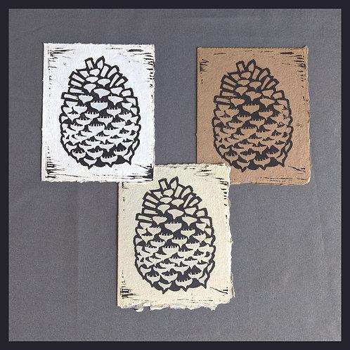 Handmade Paper - Nature Series - Pinecone