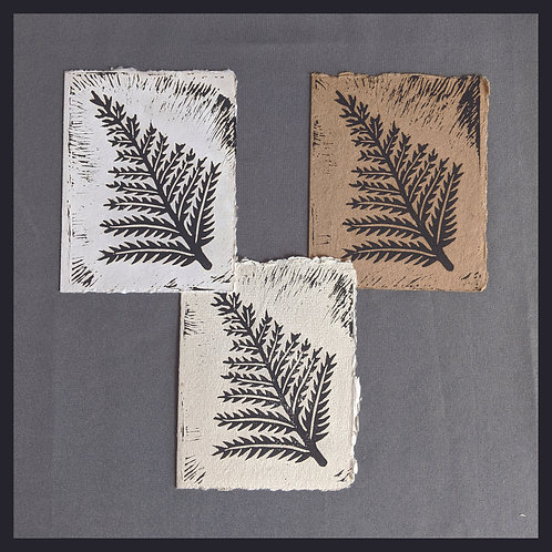 Handmade Paper - Nature Series -Fern