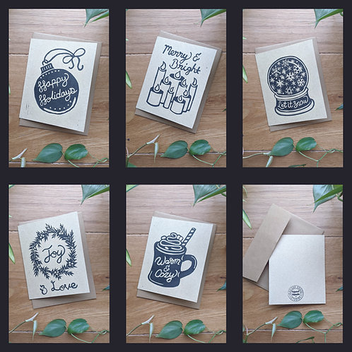 Holiday Cards on Cream