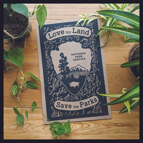 """""""Love Thy Land"""" Poster"""