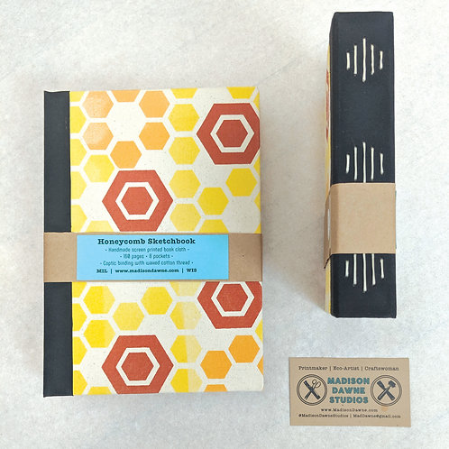 Honeycomb Sketchbooks - Small Red Long Stitch