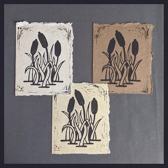 Handmade Paper - Nature Series - Cattails