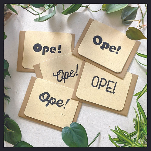 """""""Ope!"""" Series Cards"""