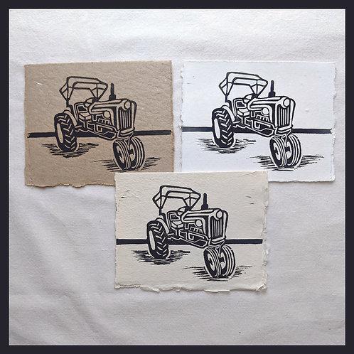 Handmade Paper Farm Series - Tractor