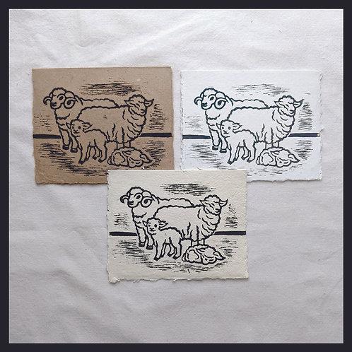 Handmade Paper - Farm Series -Sheep