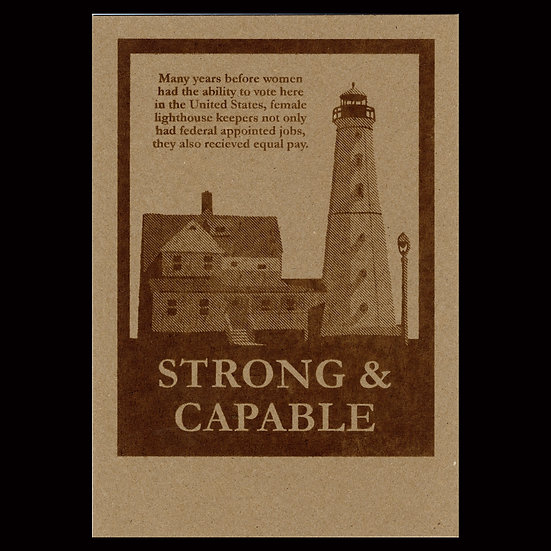 """""""Strong & Capable"""" Flyer - Brown"""