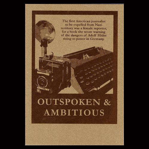 """Outspoken & Ambitious"" Flyer - Brown"