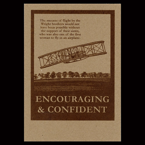 """Encouraging & Confident"" Flyer - Brown"