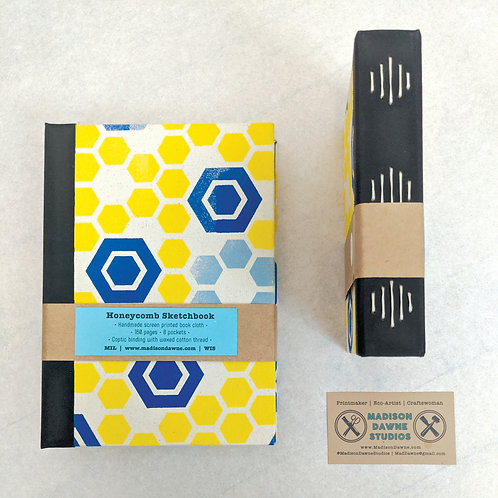 Honeycomb Sketchbooks - Small Blue Long Stitch