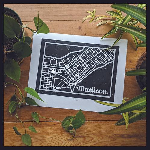 Madison Map Poster