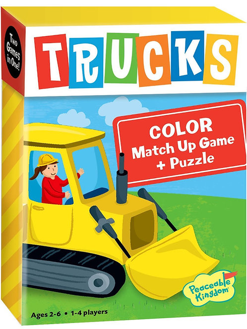 Truck Color Match Up Game +Puzzle
