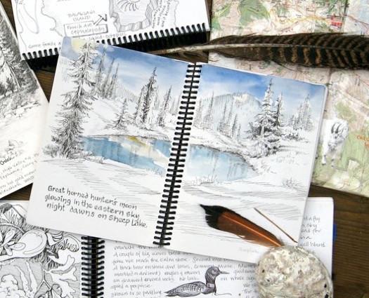 backpacking sketchbooks