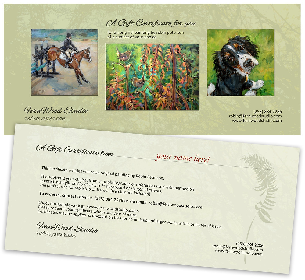 painting gift certificate