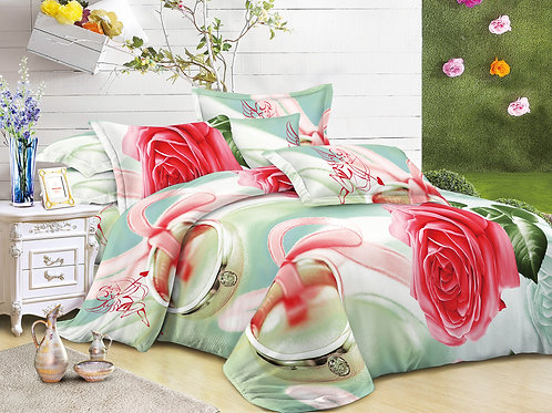 3D Duvet set,Ring-o-roses, Double or King size