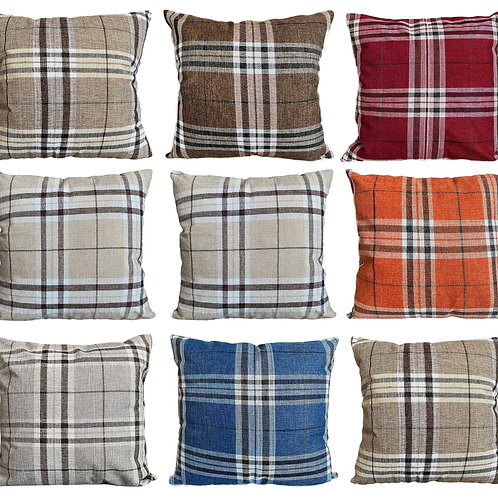 Tartan checks cushions