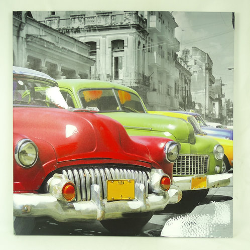 Canvas Picture Frame- Cuba Taxi