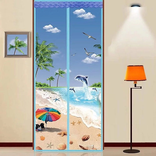 MAGIC Magnetic Insect Bug Mosquito Door Fly screen BEACH