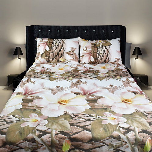 London Cobale 3D Duvet Cover Set Double ,Kingsize