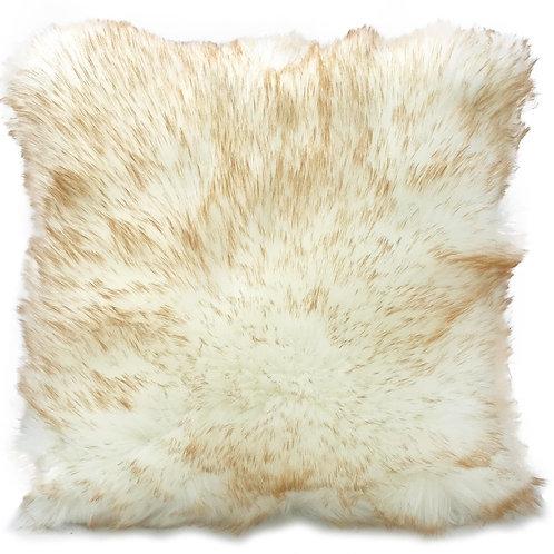 Cushion cover or cushions THICK PILE Shaggy faux fur cushions White_Beige