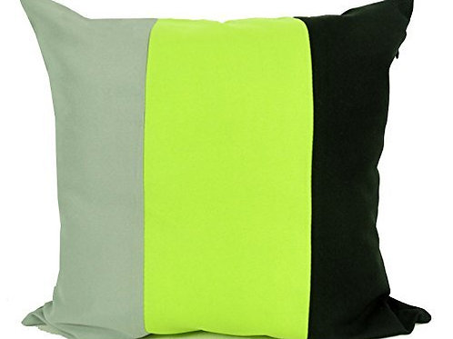 "Three tone cushions Black_GREEN_Grey 17""x17"" or 20""x20"""