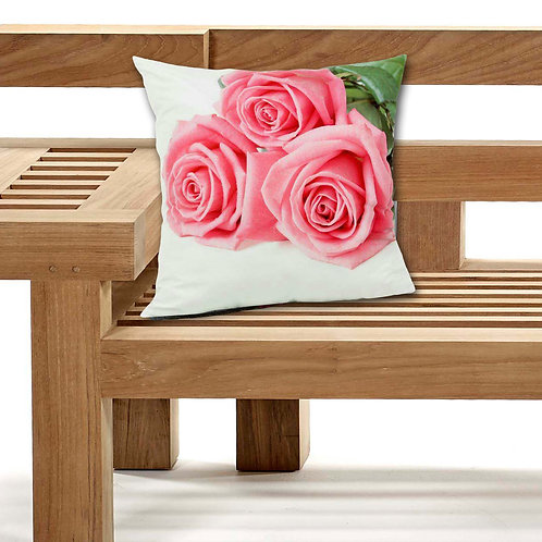 Outdoor Cushions Waterproof Canvas FILLED Cushions Pink roses