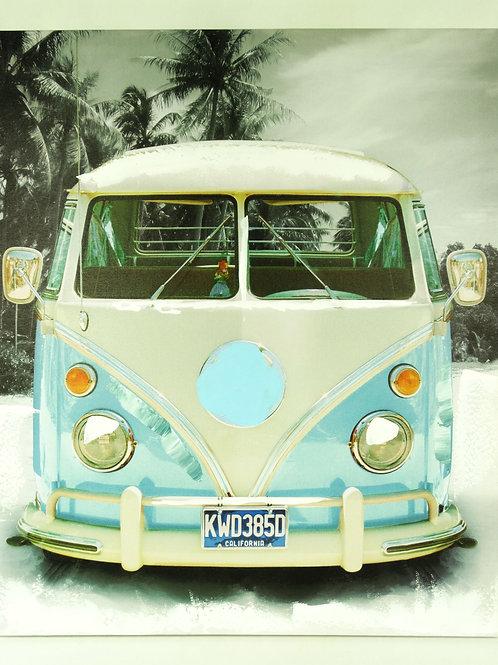 Canvas Picture Frame- Blue Camper Van