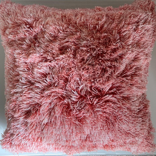 Super Soft Cuddly 2 TONE Faux Fur Fluffy Cushions or Covers RED