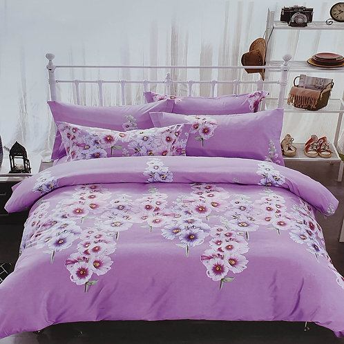 Duvet Cover set 90 GSM quality Double King size Orchid Lilac
