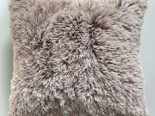 Super Soft Cuddly 2 TONE Faux Fur Fluffy Cushions or Covers BROWN