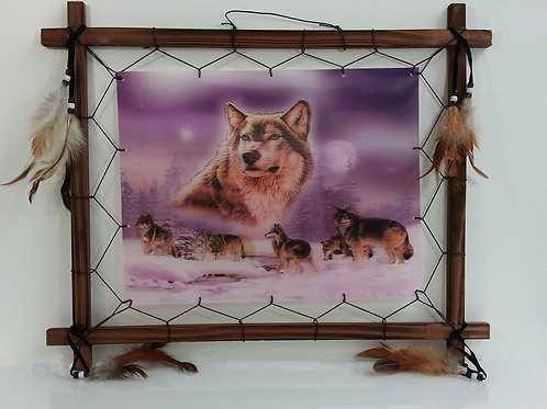 amazing 3d frame-wolf family