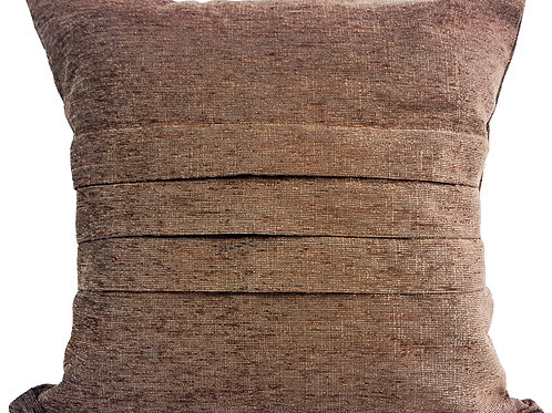 Plain Chenille Cushions or covers Taupe