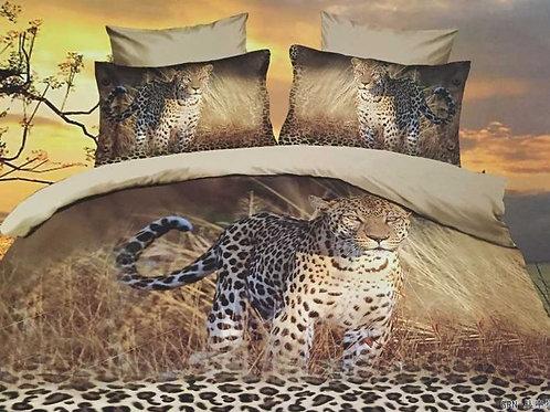 3D Duvet set, 125 Gsm Leopard Double, King size
