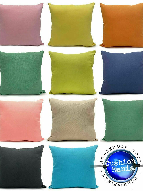 Waterproof Garden Cushion or Cover Furniture Outdoor Indoor Seats PLAIN Cushions