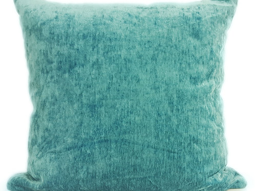 "Plain Soft Chenille Cushions or covers Light Blue 17""x 17"""