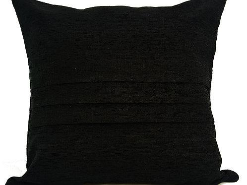 "Plain Chenille Cushions or covers Black 17""x 17"""