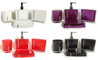diamante bathroom accessories set white diamante bathroom accessories set blackred whitepurple