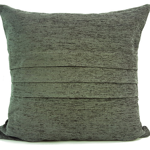 "Plain Chenille Cushions or covers Silver 17""x 17"""