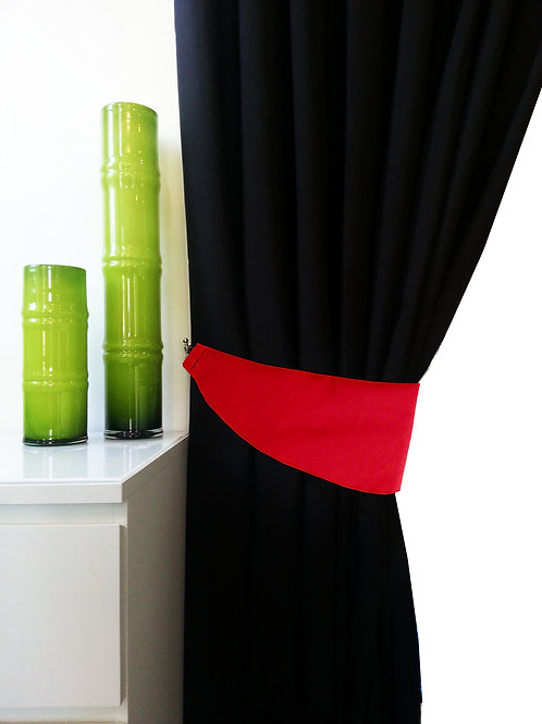 Plain Tie Backs for 3 tone curtains Red