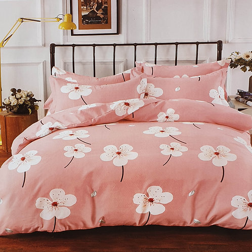 Duvet Cover set 90 GSM quality Double King size Daisy dusky pink